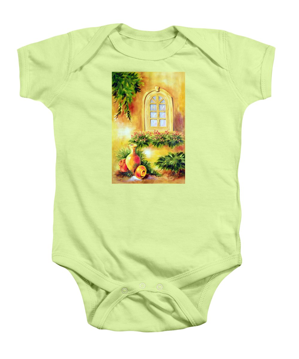Composition Baby Onesie featuring the painting Composition by Sanika Dhanorkar nee Meenal Pradhan