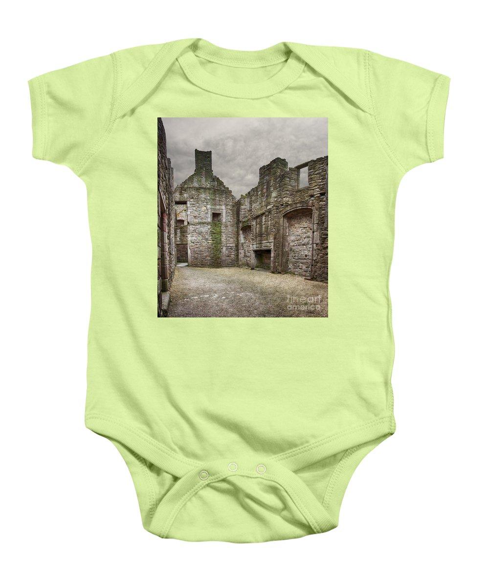Inside Baby Onesie featuring the photograph Craigmillar Castle Ruin Edinburgh by Sophie McAulay
