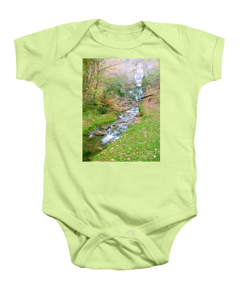 Springs Baby Onesie featuring the photograph Fall Springs by Minding My Visions by Adri and Ray