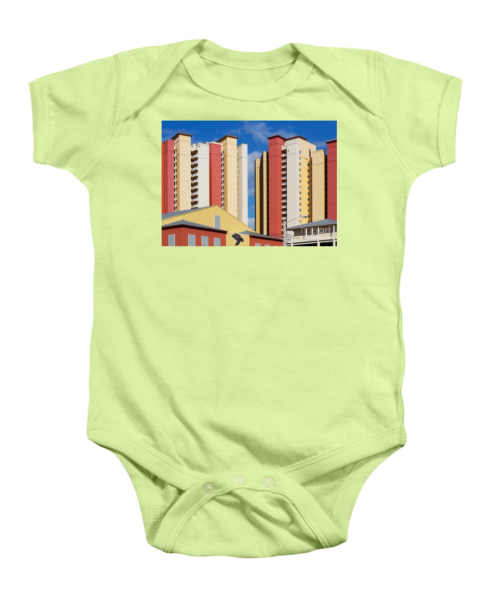 Architecture Baby Onesie featuring the photograph Florida Condos by Barbara McMahon