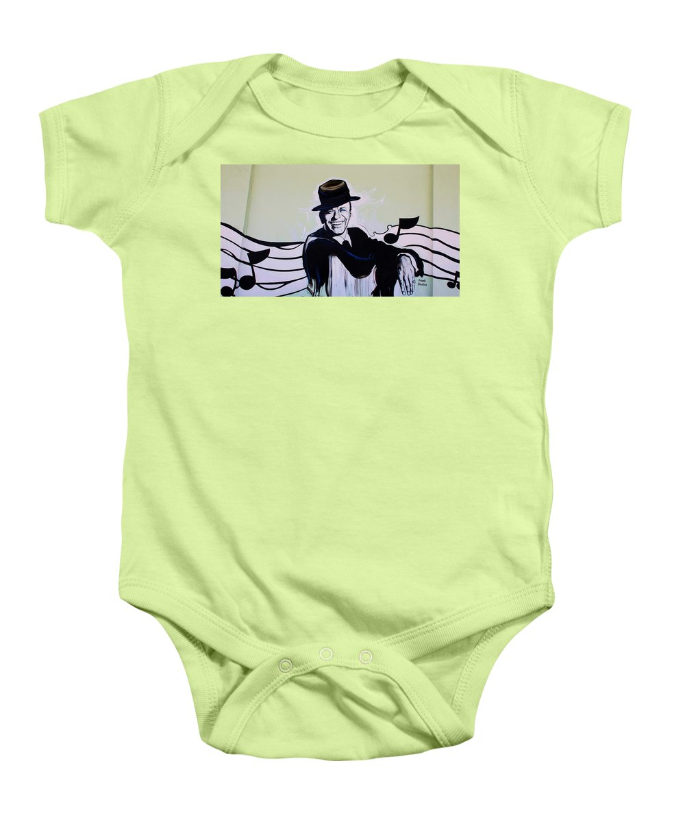 Frank Sinatra Baby Onesie featuring the photograph Frank by Rob Hans