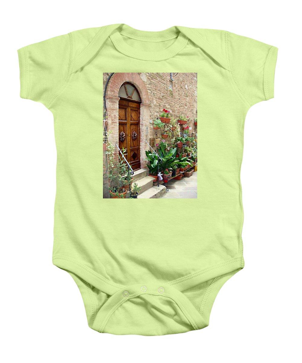 Front Door Baby Onesie featuring the photograph Front Door by Ellen Henneke