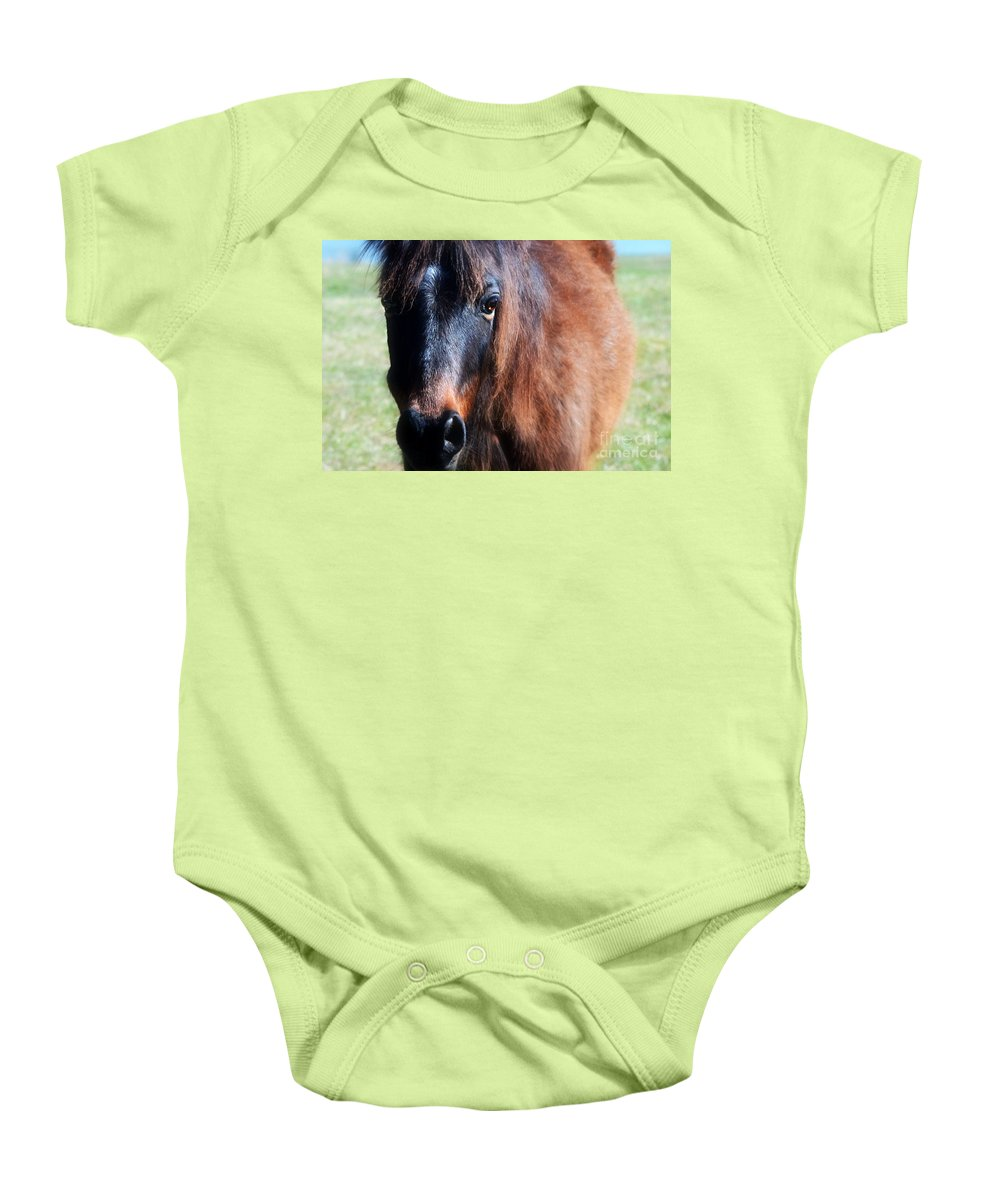Gentle Horse Baby Onesie featuring the photograph Gentle Spirit by Peggy Franz