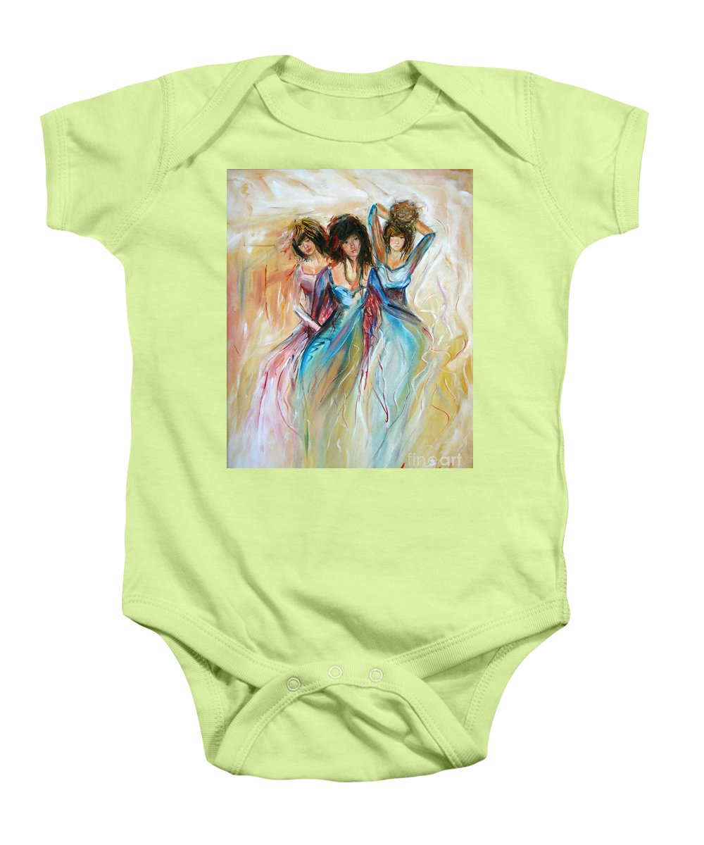 Contemporary Art Baby Onesie featuring the painting Having Fun by Silvana Abel