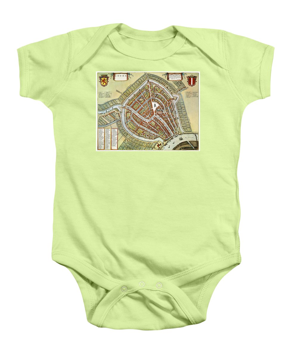 1649 Baby Onesie featuring the photograph Holland: Gouda Plan, 1649 by Granger