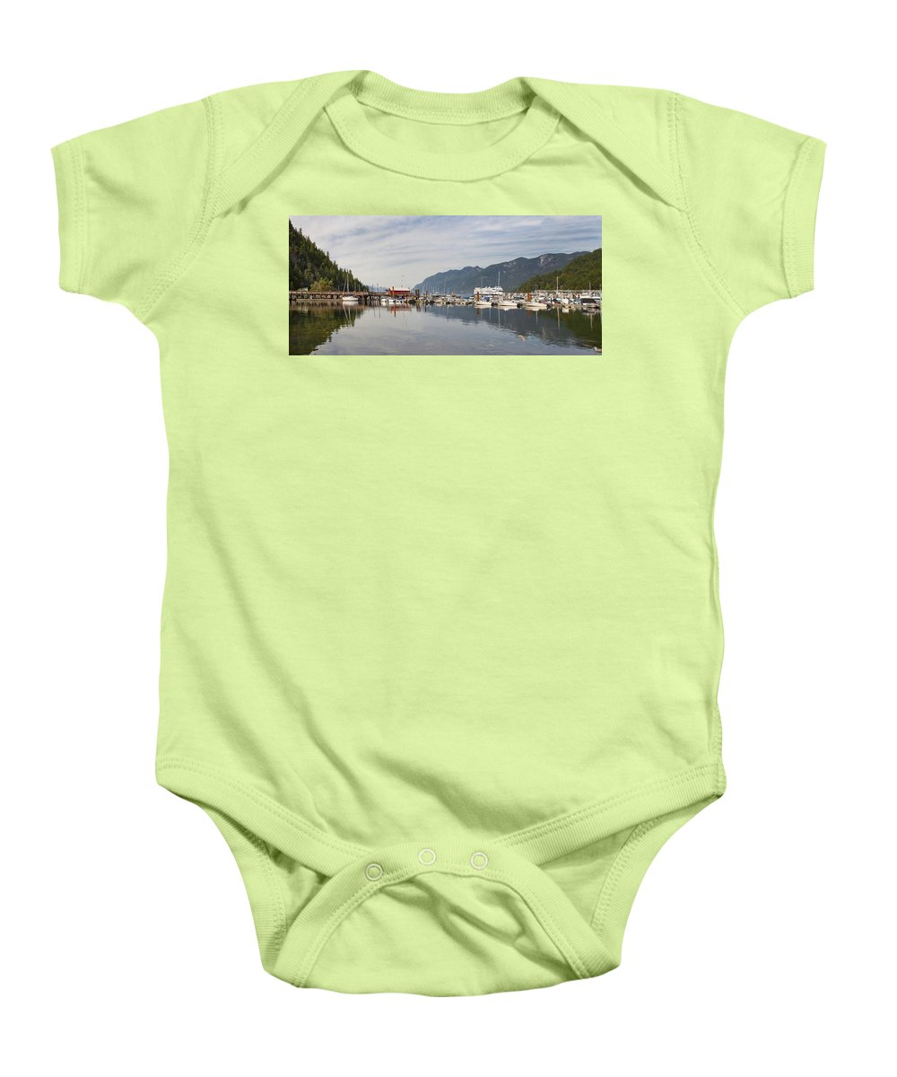 Horseshoe Baby Onesie featuring the photograph Horseshoe Bay Vancouver Bc Canada by Jit Lim