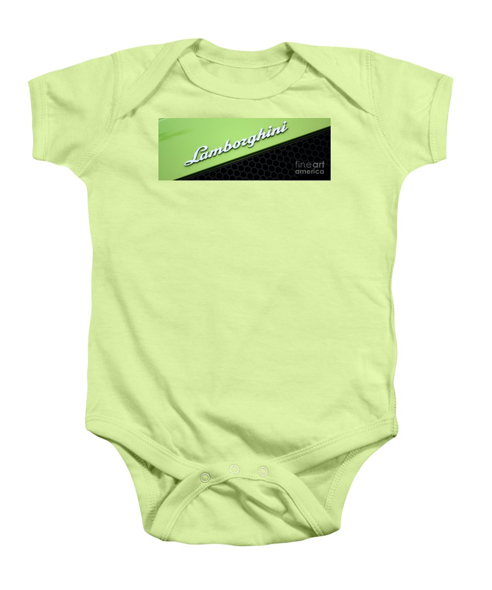 Lamborghini Baby Onesie featuring the photograph Lambologo8665 by Gary Gingrich Galleries