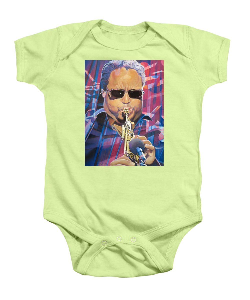 Leroi Moore Baby Onesie featuring the drawing Leroi Moore And 2007 Lights by Joshua Morton