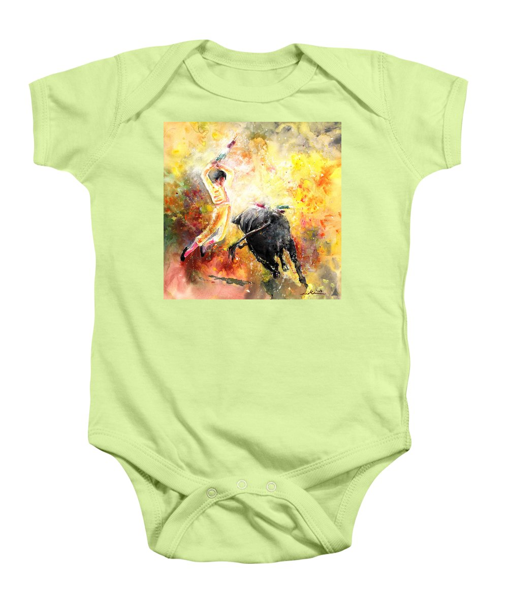 Animals Baby Onesie featuring the painting Lightning Strikes by Miki De Goodaboom