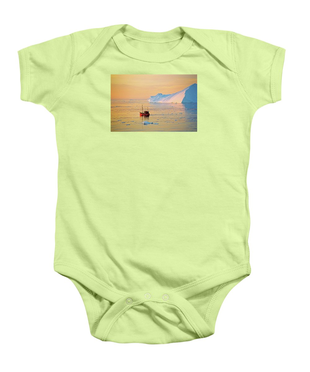 Greenland Baby Onesie featuring the photograph Lonely Boat - Greenland by Juergen Weiss