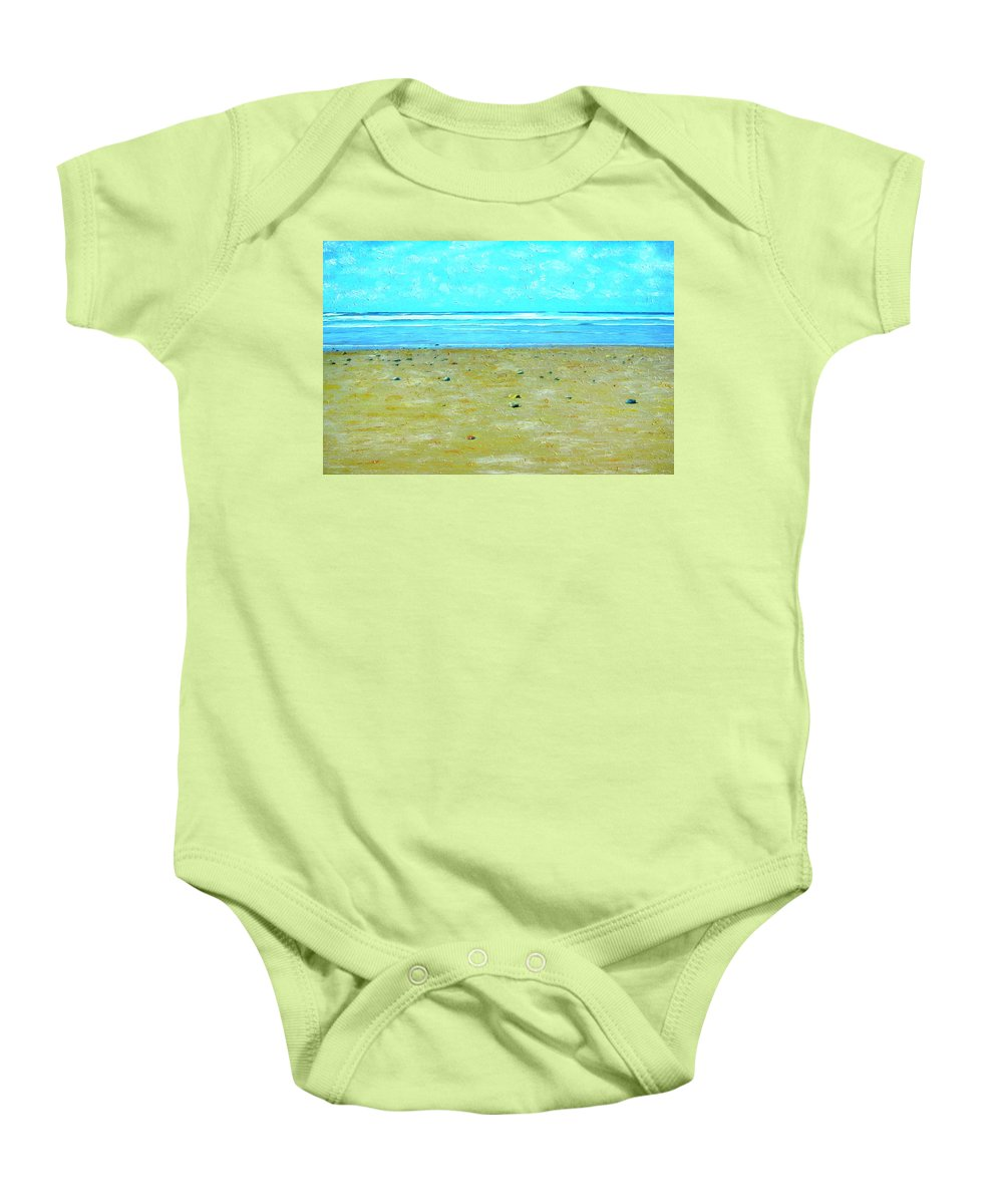 Beach Baby Onesie featuring the painting Low Tide by Dominic Piperata