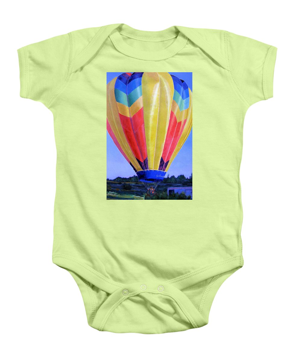 Acrylic Baby Onesie featuring the painting Morning Flight by Lynne Reichhart