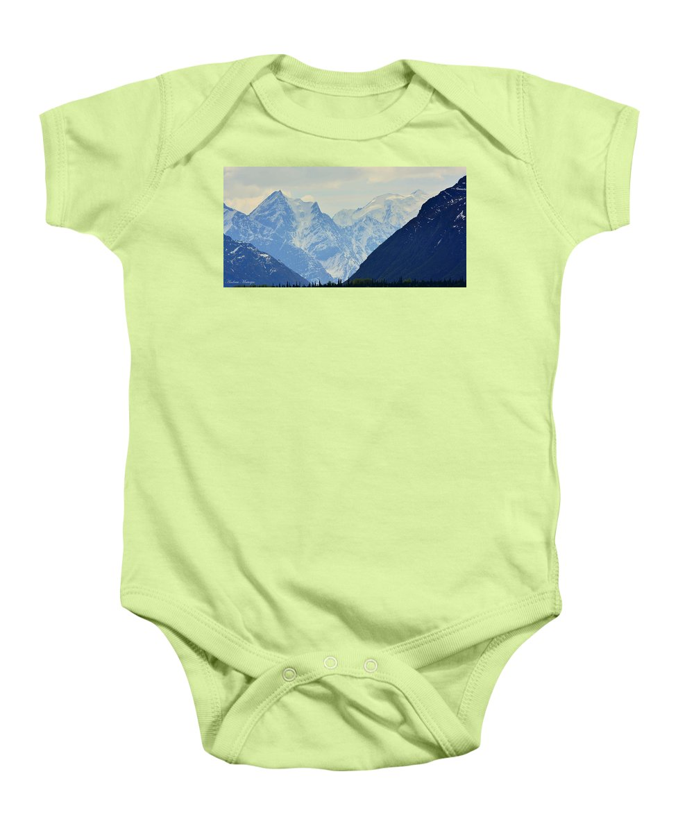 Alaska Baby Onesie featuring the photograph Mountains Near Matanuska Glacier by Andrew Matwijec