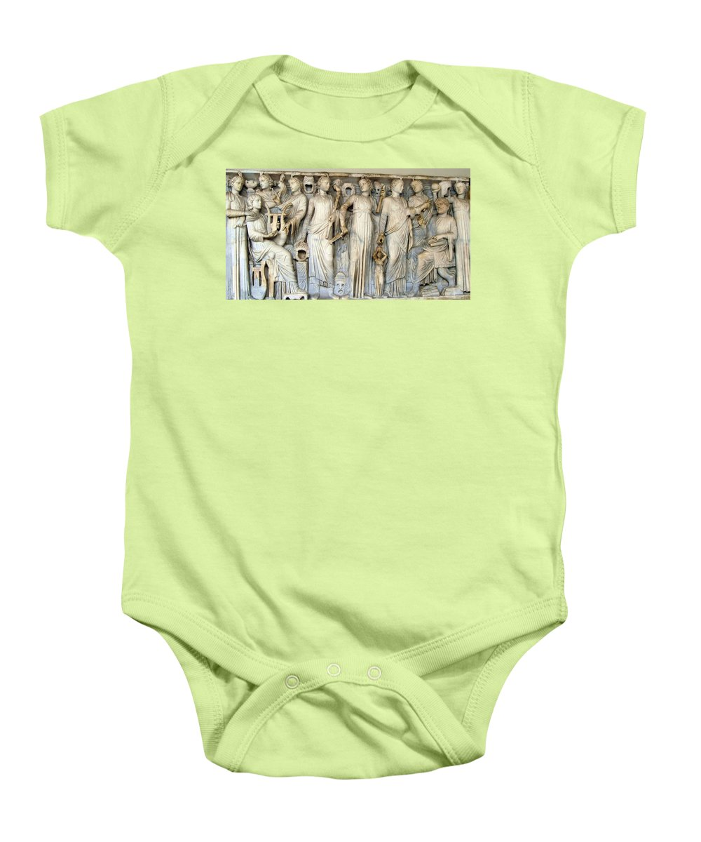 Muses And Poets Baby Onesie featuring the photograph Muses And Poets by Ellen Henneke