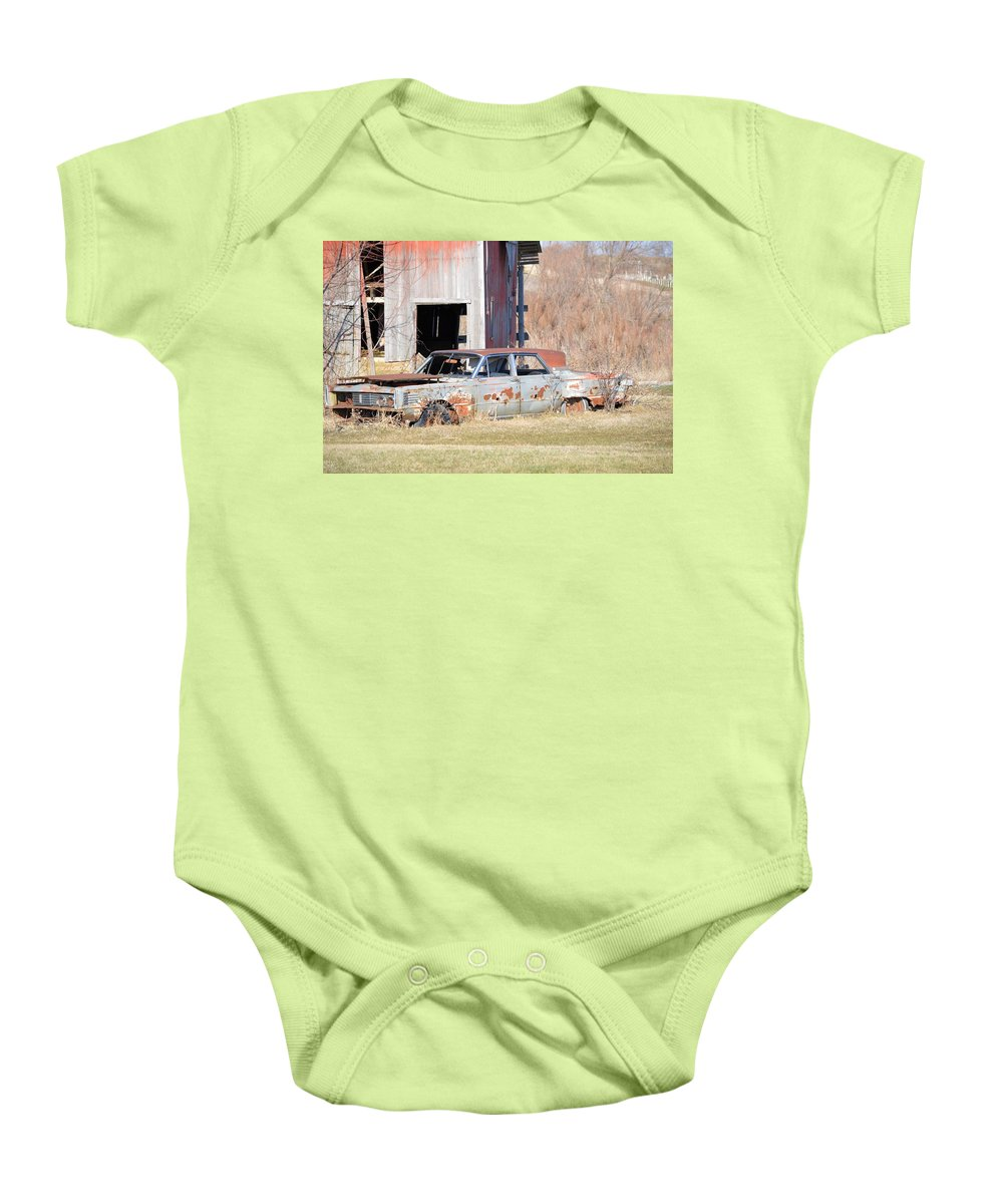 Car Baby Onesie featuring the photograph Old Luxury by Bonfire Photography