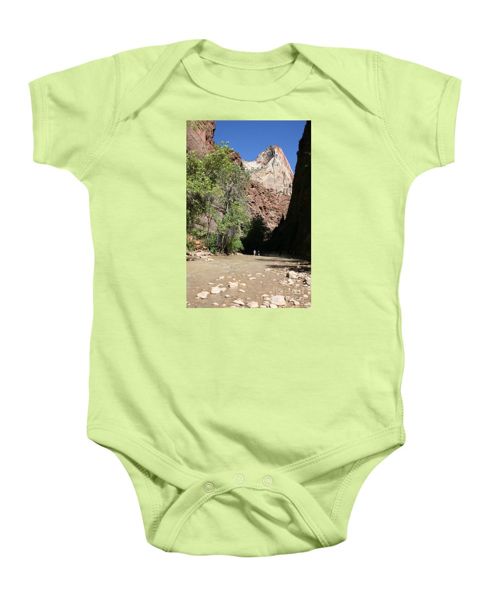 Narrows Baby Onesie featuring the photograph On The Way To The Narrows by Christiane Schulze Art And Photography