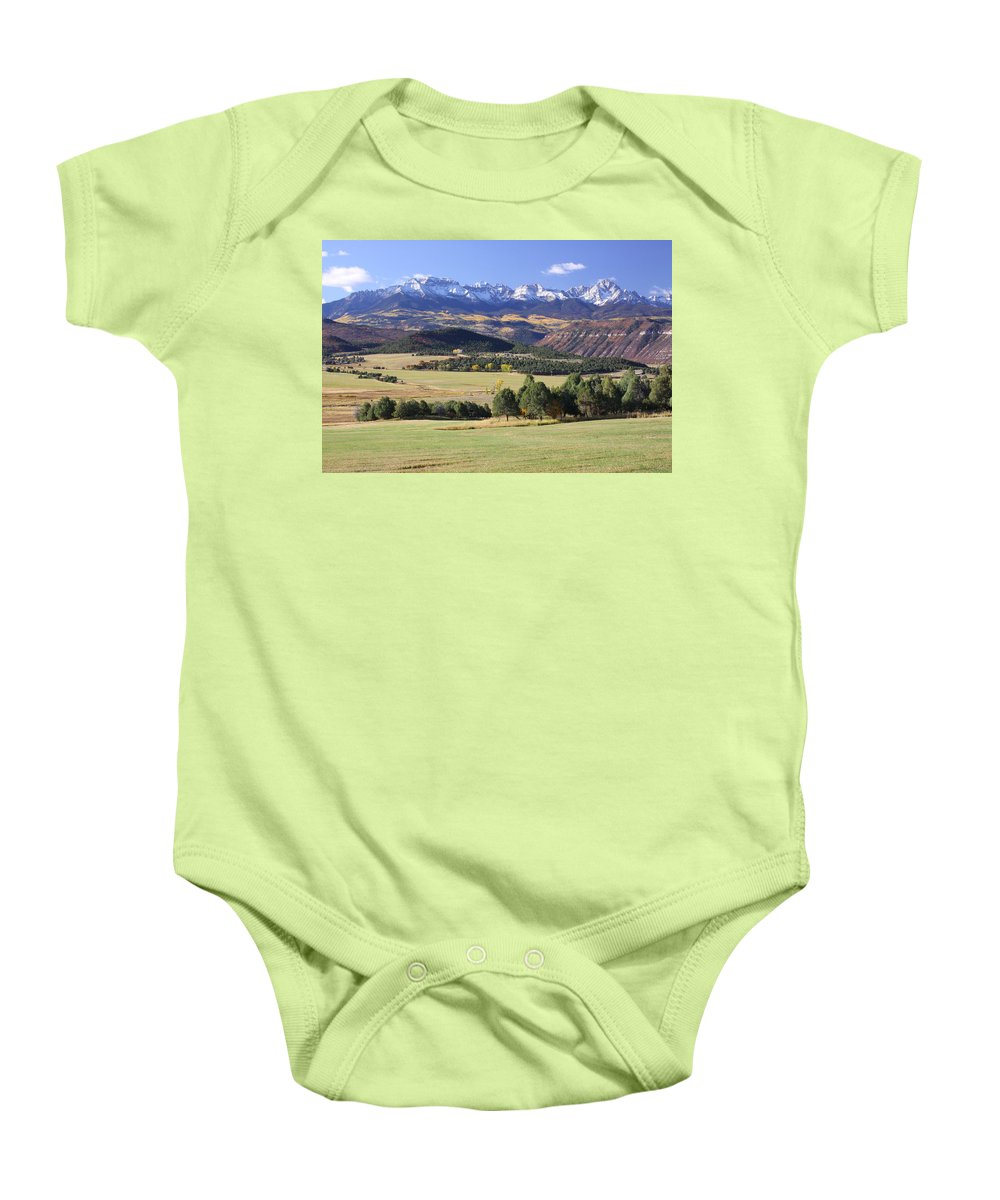 Colorado Baby Onesie featuring the photograph Pastorale by Eric Glaser