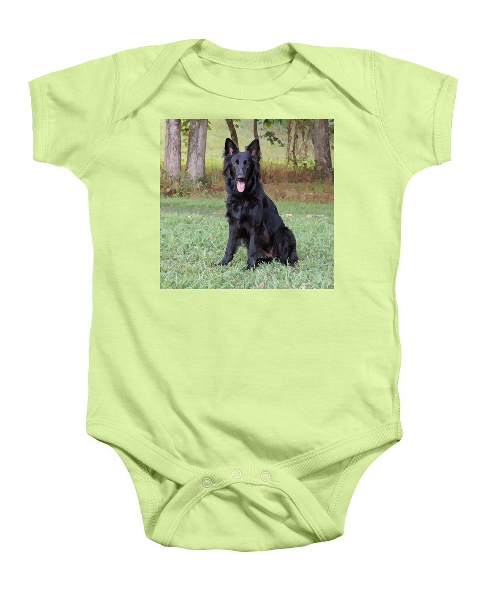 German Shepherd Baby Onesie featuring the photograph Phoenix II by Sandy Keeton