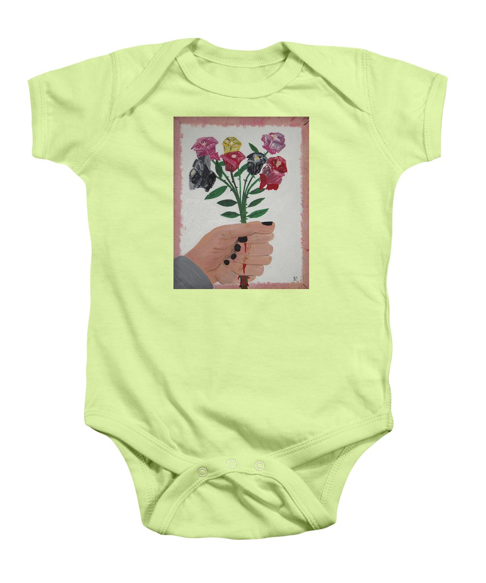 Painting Baby Onesie featuring the painting Point Of Beauty by Dean Stephens
