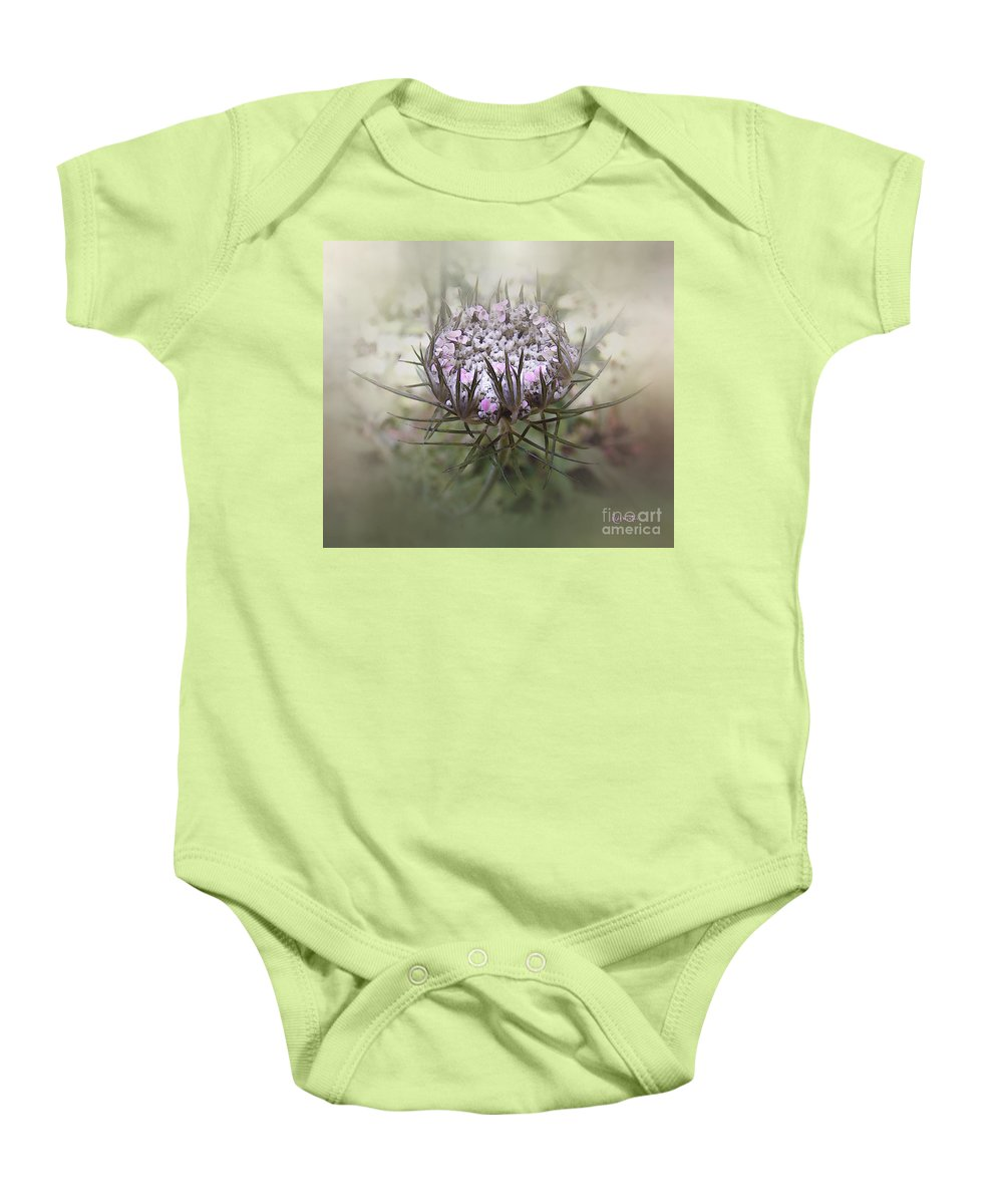 Queen Anne's Lace Baby Onesie featuring the digital art Queen Of The Mist by RC DeWinter