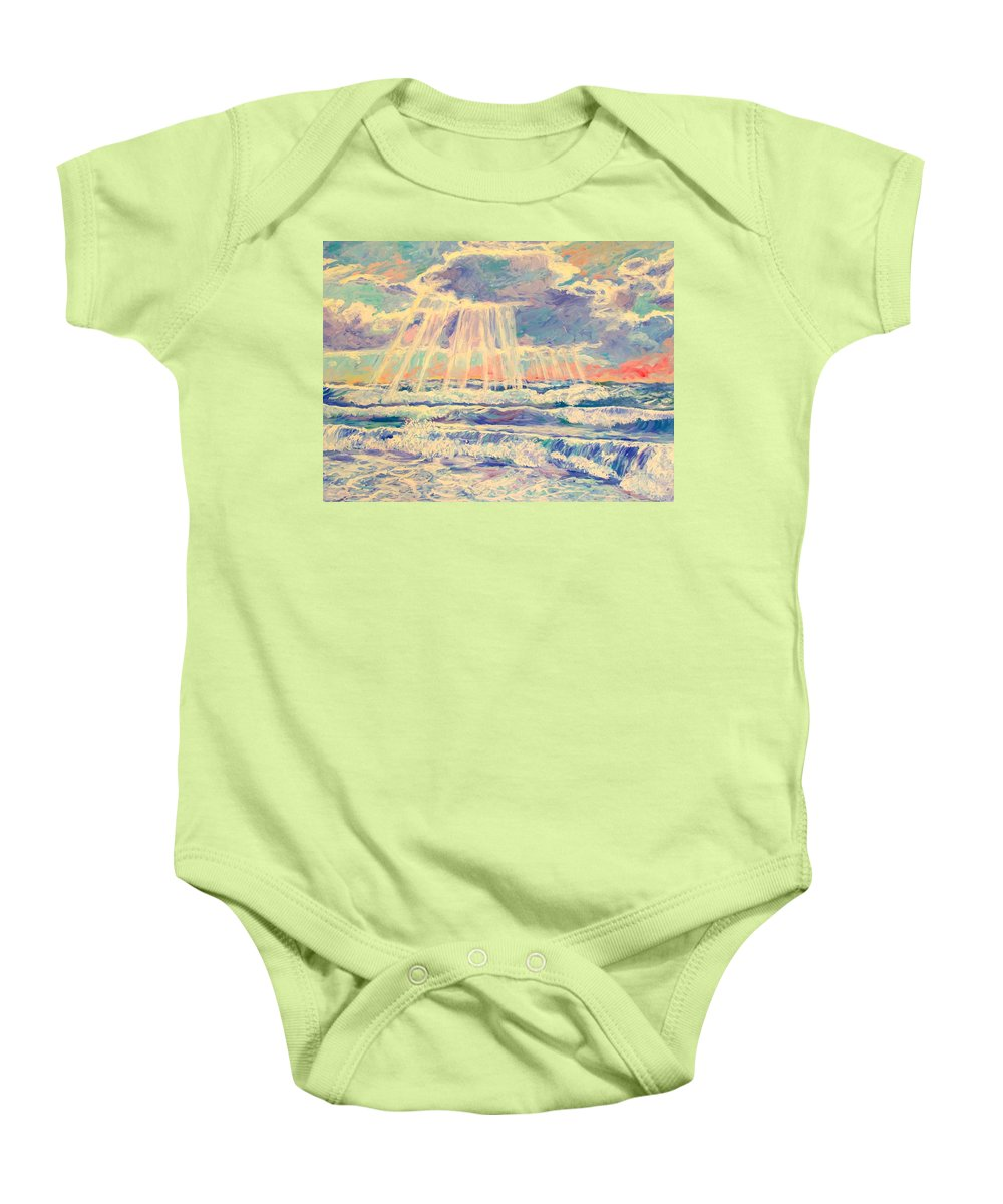 Beach Baby Onesie featuring the painting Rehoboth Light by Kendall Kessler