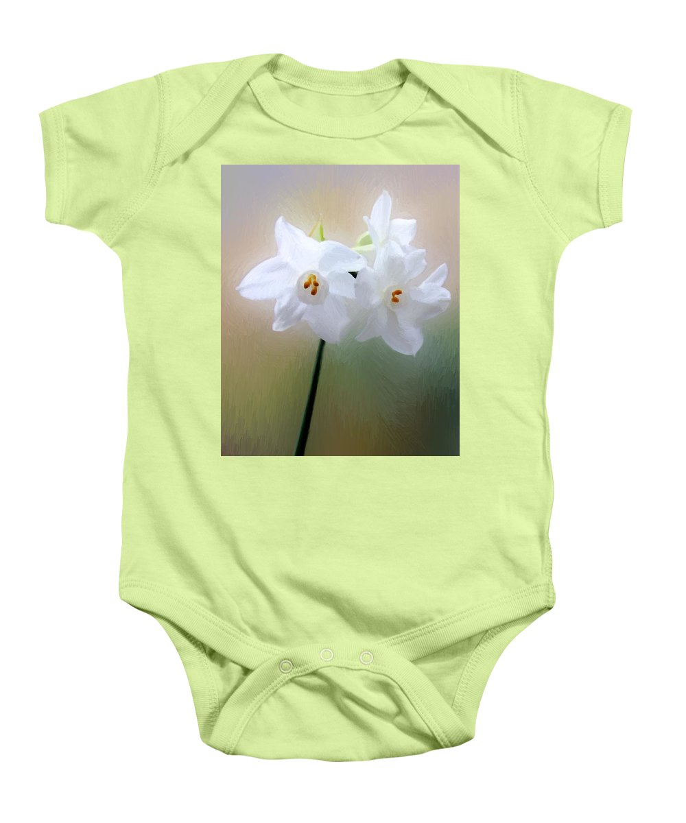 Floral Baby Onesie featuring the painting Remembering You by RC DeWinter