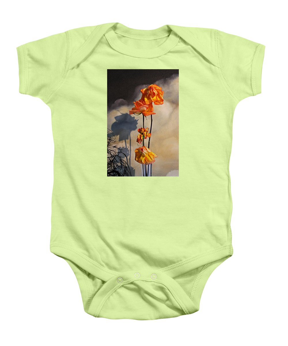 Roses Baby Onesie featuring the photograph Sad To See You Go by John Stuart Webbstock