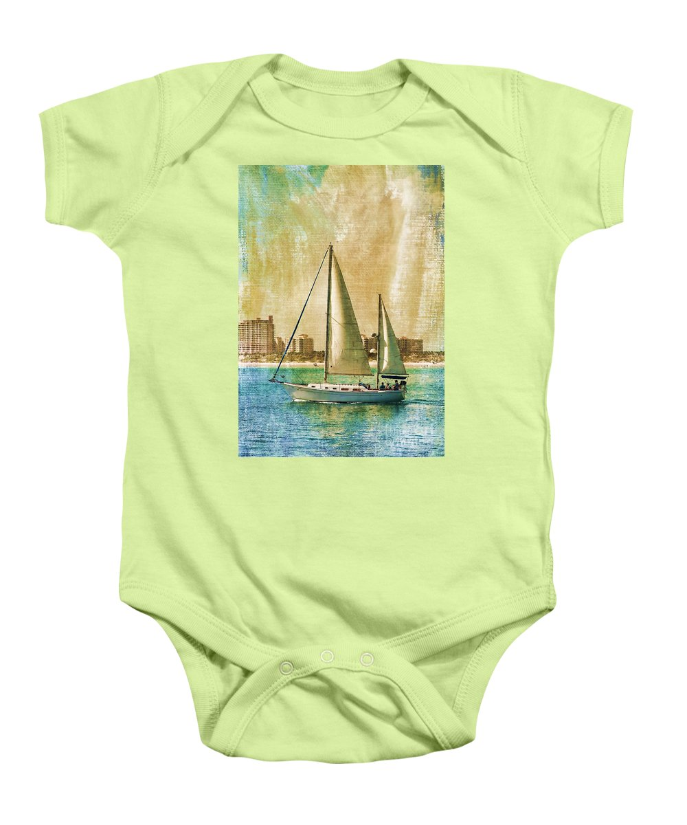 Sailing Baby Onesie featuring the photograph Sailing Dreams On A Summer Day by Deborah Benoit