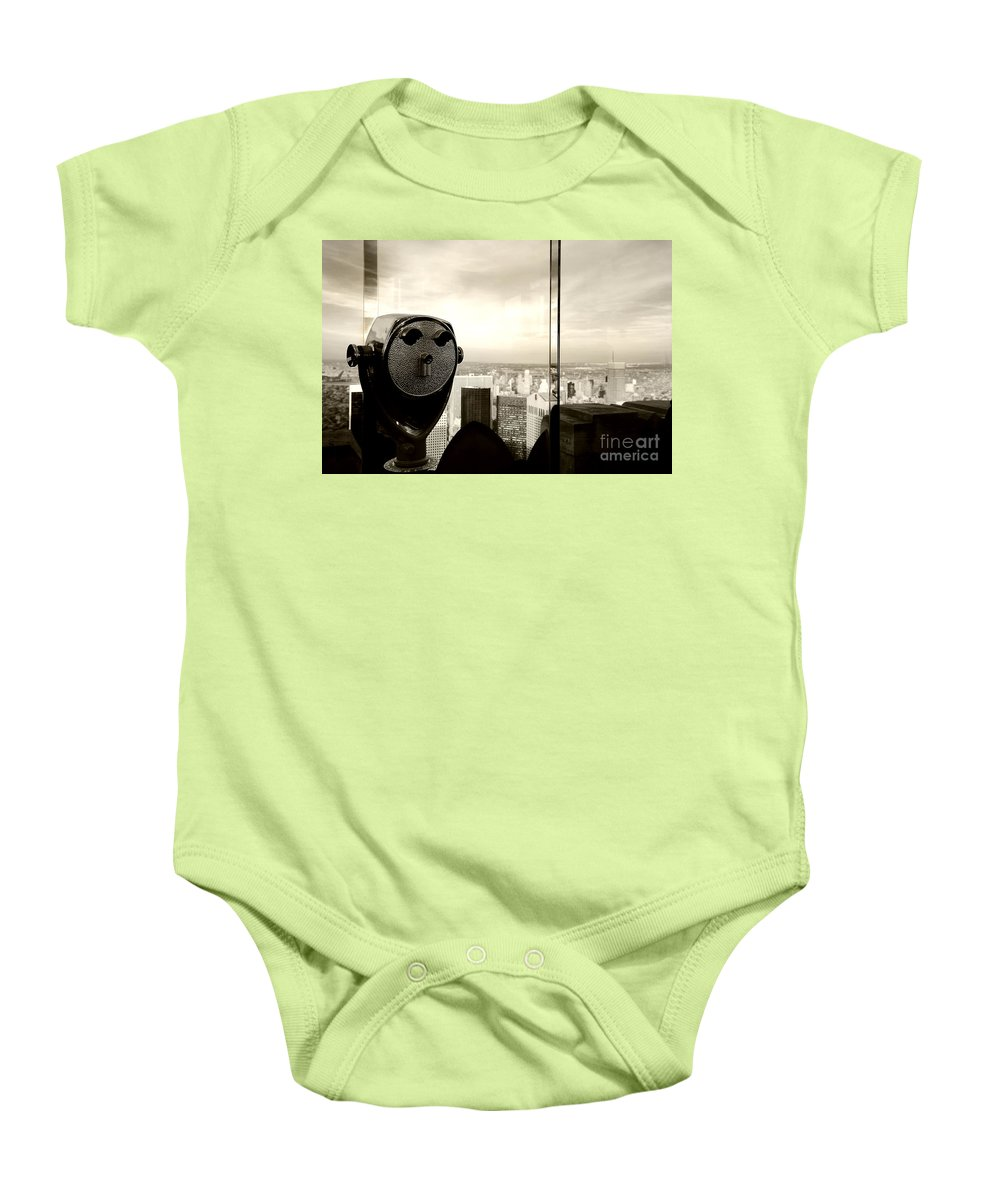 New York City Baby Onesie featuring the photograph See New York City Usa by Sabine Jacobs