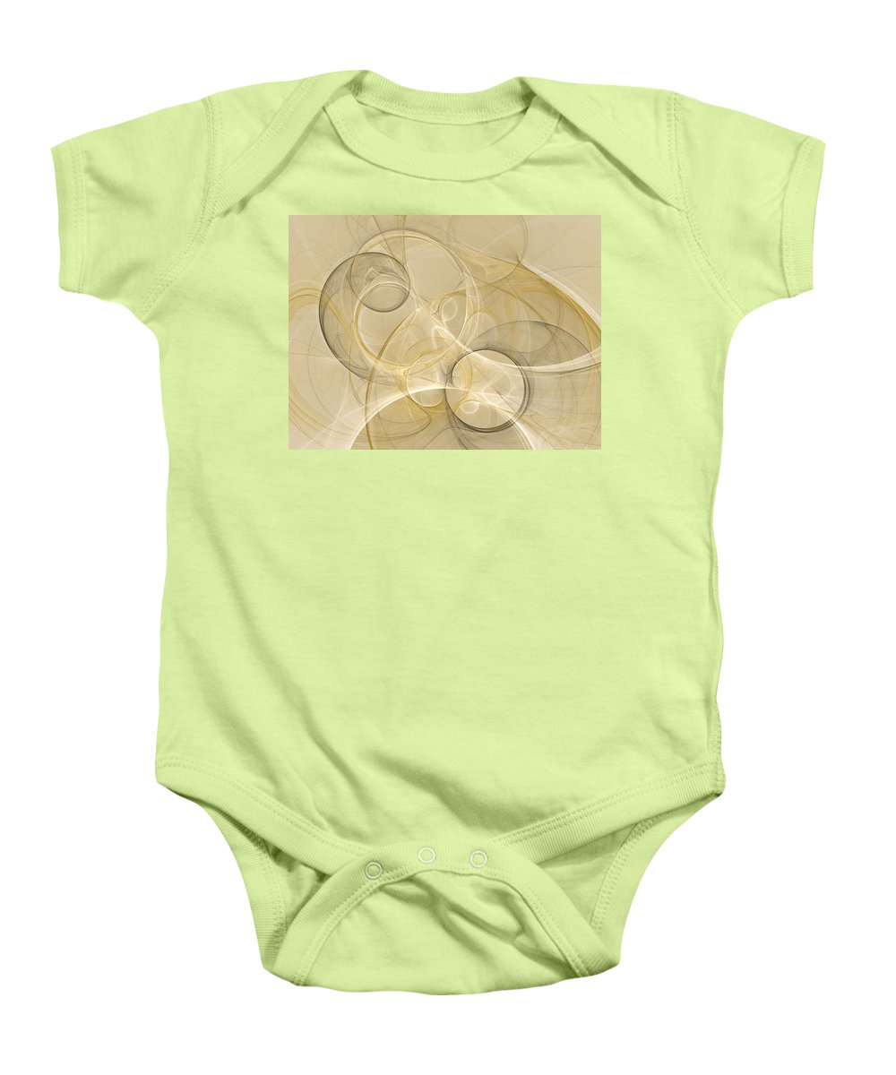 Abstract Baby Onesie featuring the digital art Series Abstract Art In Earth Tones 4 by Gabiw Art