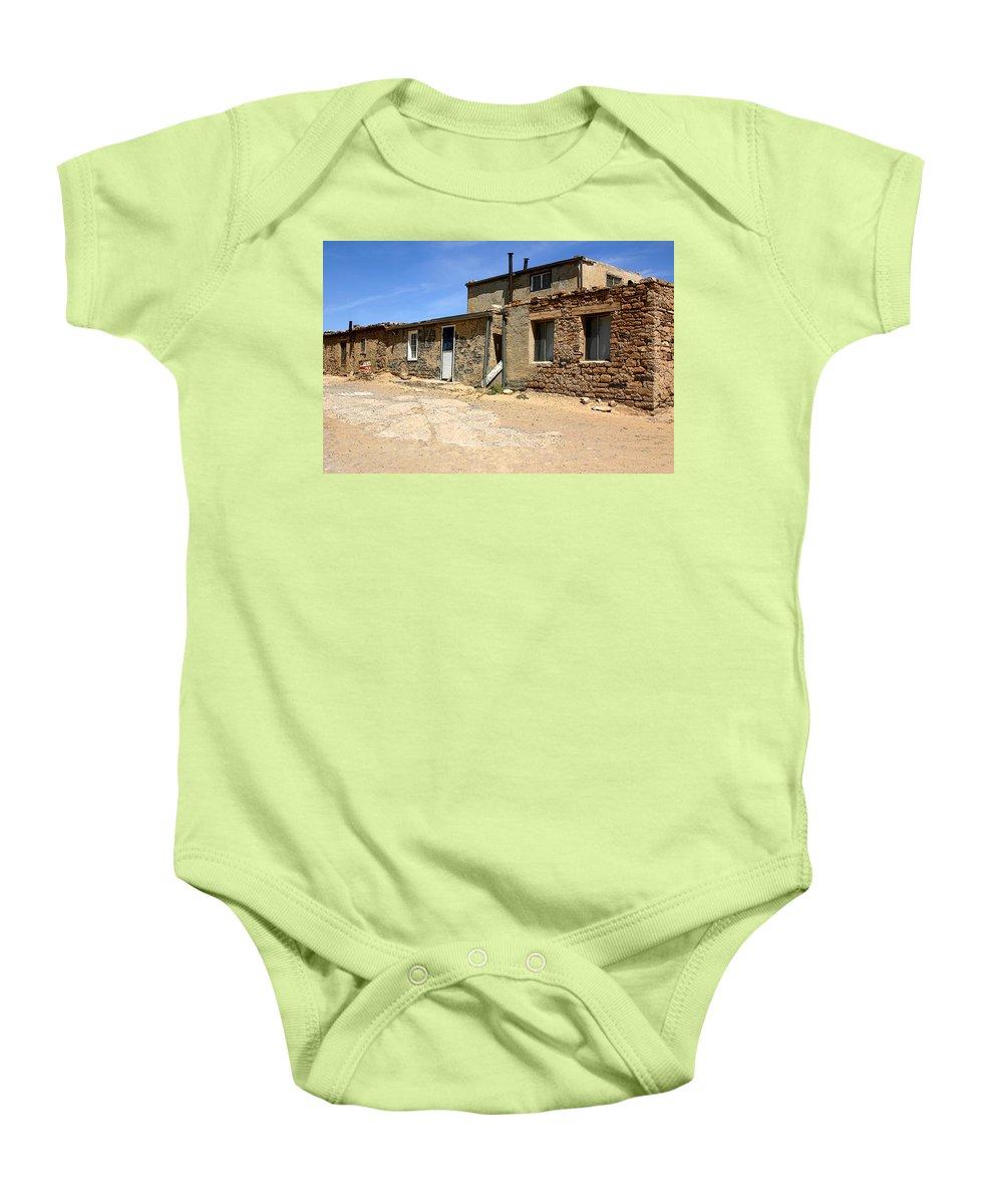 Pueblo Baby Onesie featuring the photograph Sky House by Joe Kozlowski