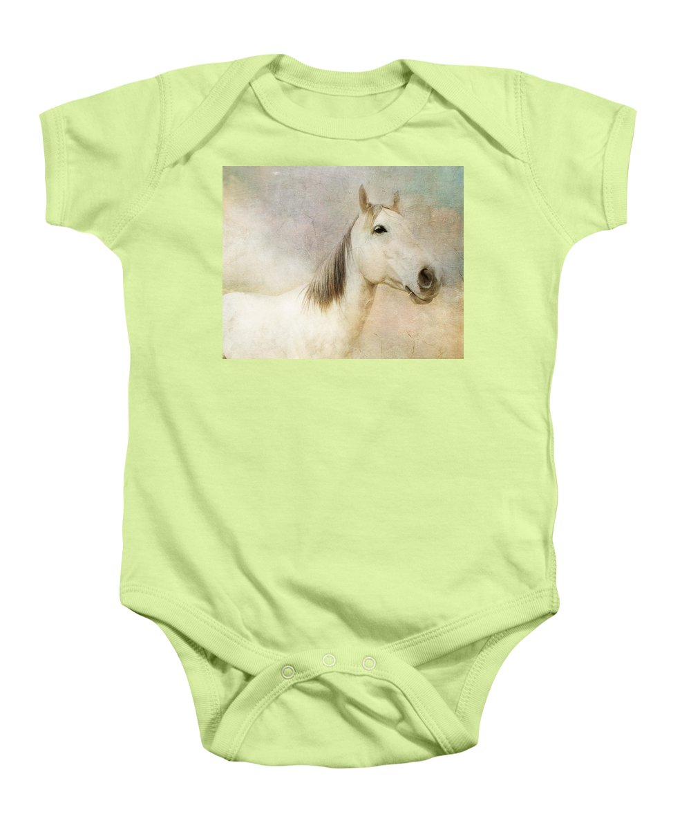 Horse Baby Onesie featuring the photograph Spirit Horse by Terry Fleckney