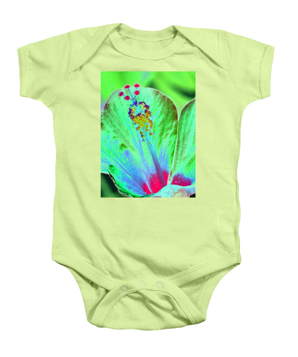 Flower Baby Onesie featuring the photograph Stigma - Photopower 1278 by Pamela Critchlow