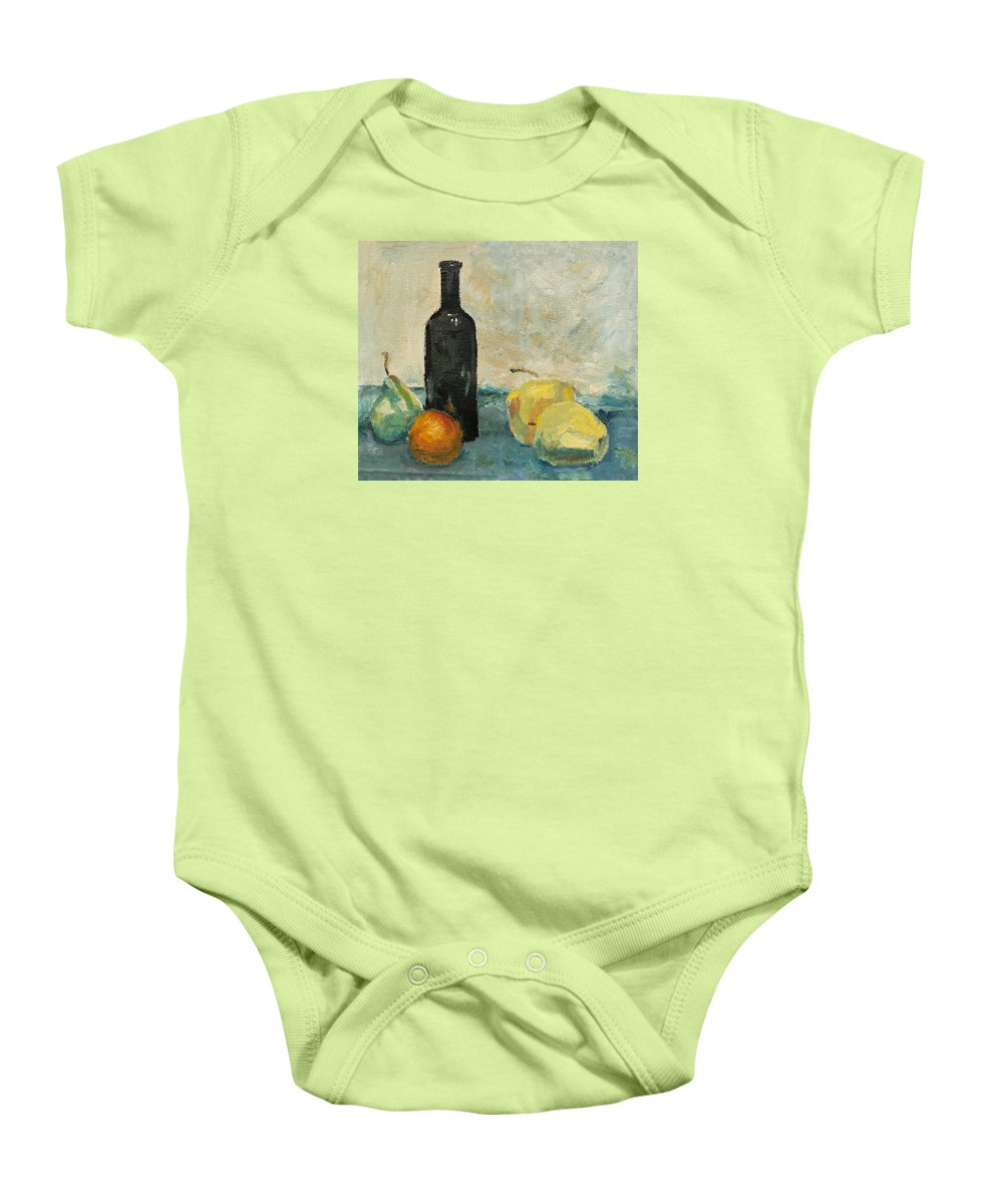 Still Life Baby Onesie featuring the painting Still Life - Study by Masha Batkova