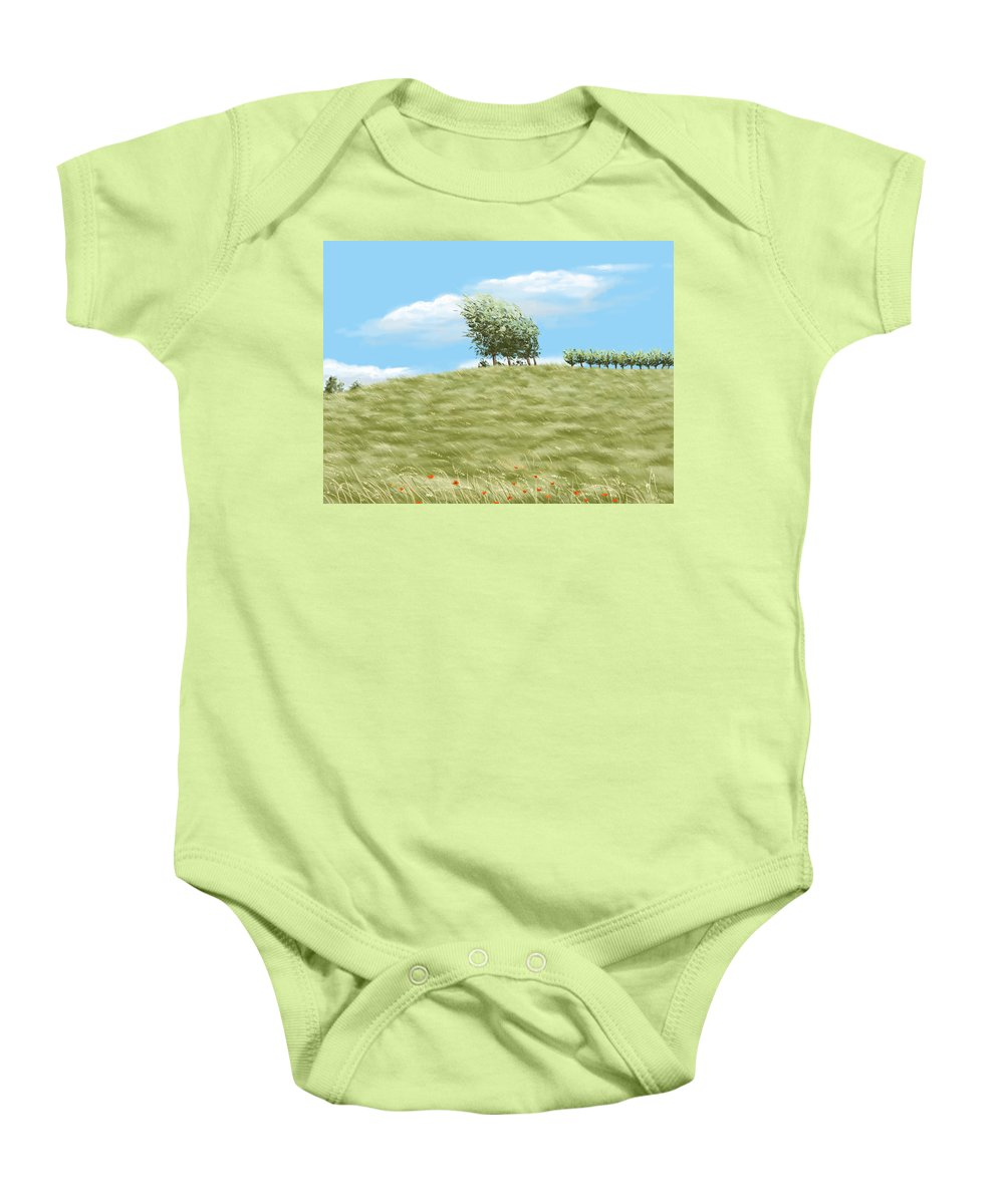 Summer Baby Onesie featuring the painting Summer Day by Veronica Minozzi
