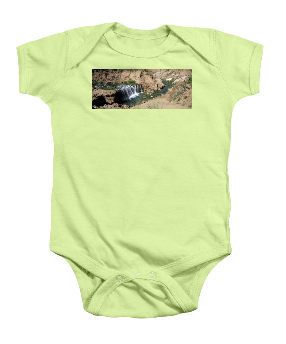 Waterfall Baby Onesie featuring the photograph Supai Falls by Lovejoy Creations
