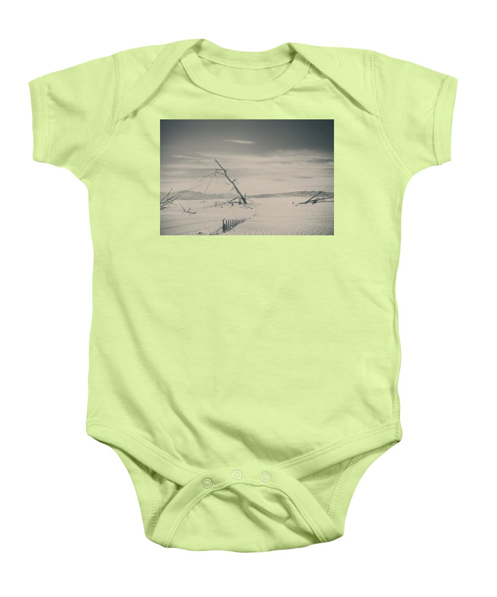 Palm Desert Baby Onesie featuring the photograph Swallowed Up by Laurie Search