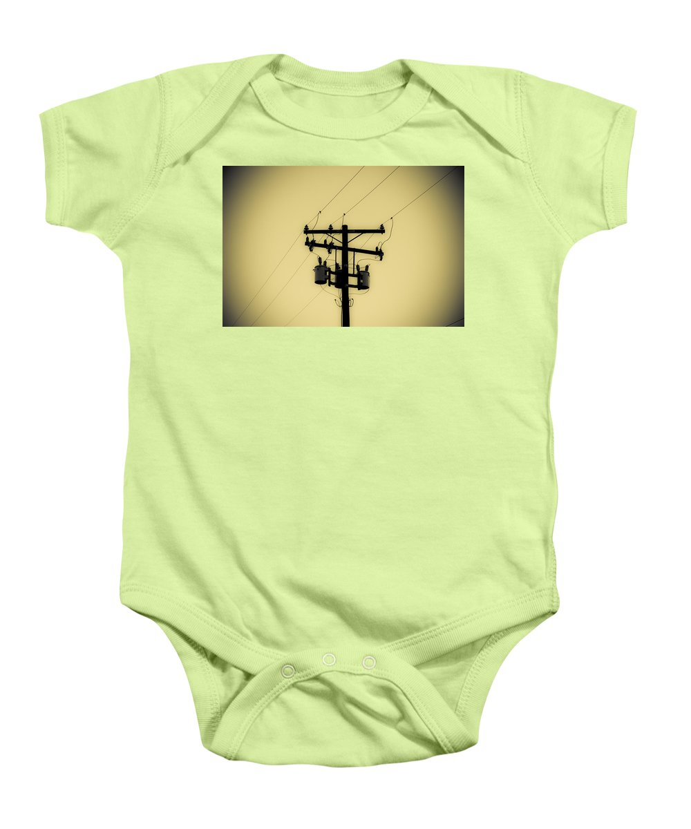 Telephone Pole Baby Onesie featuring the photograph Telephone Pole 1 by Scott Campbell