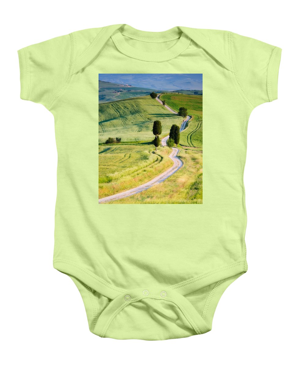 Europe Baby Onesie featuring the photograph Terrapille Farm by Michael Blanchette