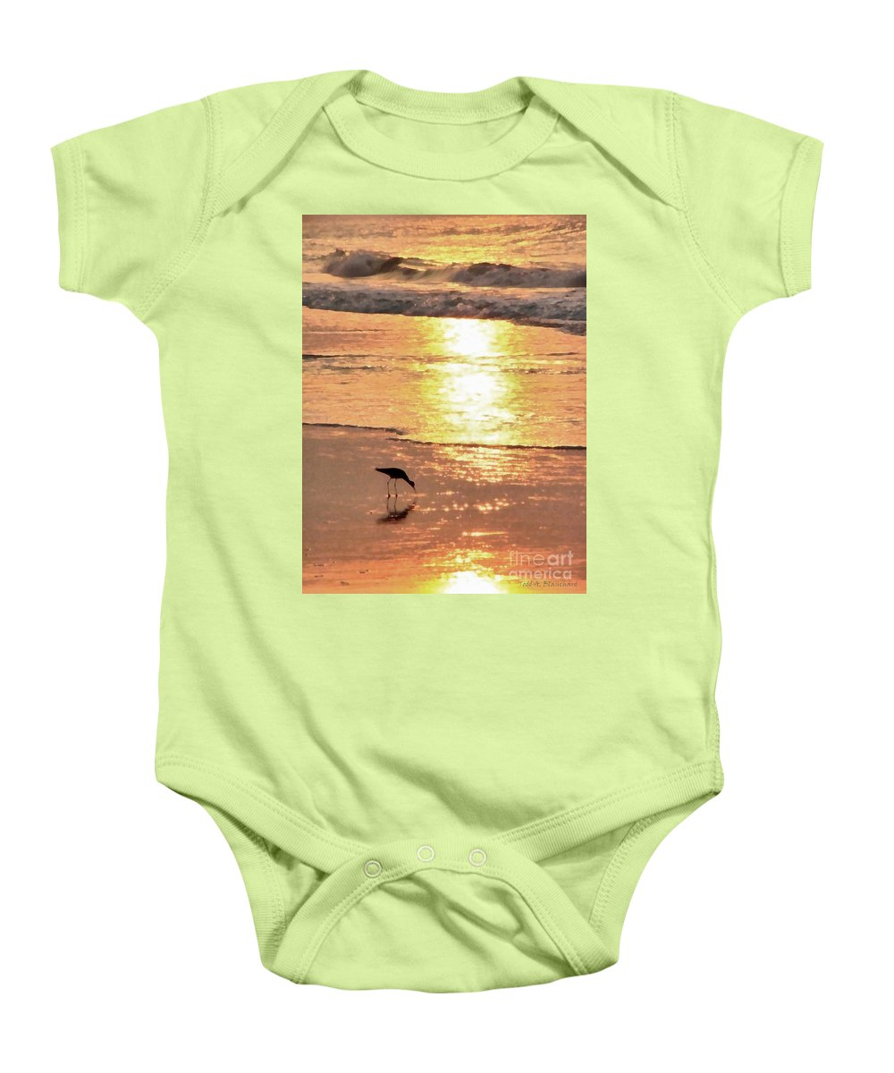 Landscape Baby Onesie featuring the photograph The Early Bird by Todd Blanchard