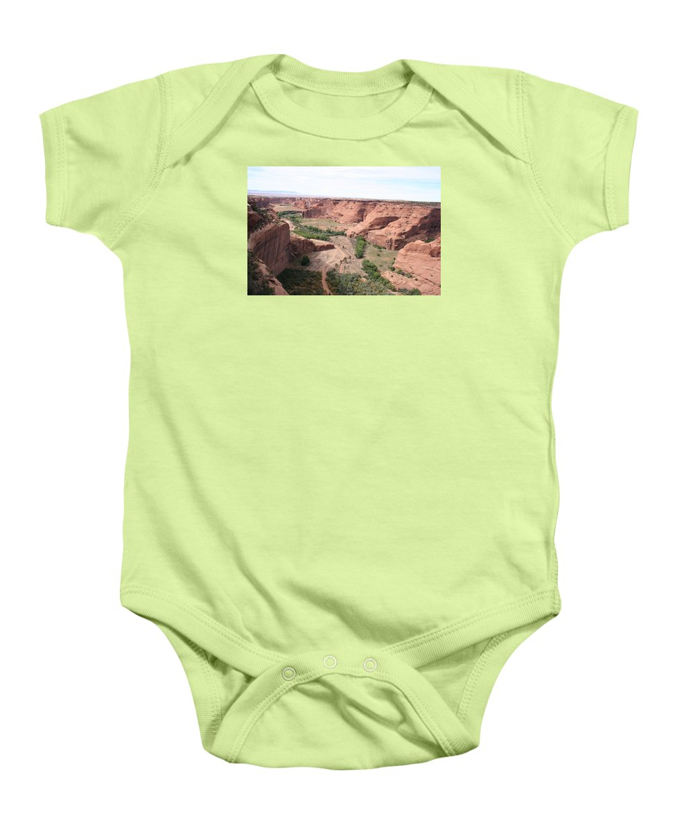 Valley Baby Onesie featuring the photograph Canyon De Chelly Valley View  by Christiane Schulze Art And Photography