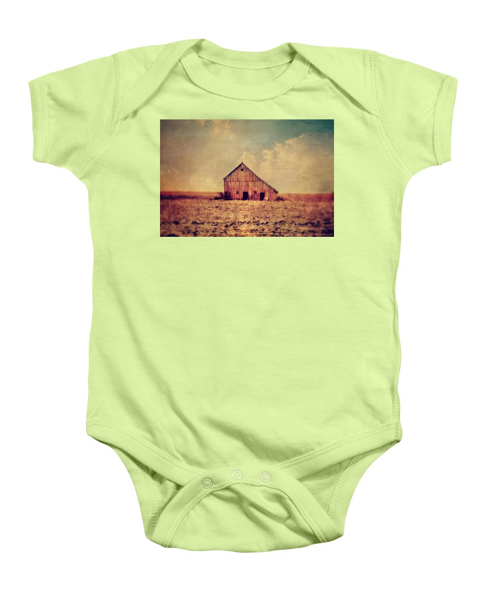 Barn Baby Onesie featuring the photograph Vantage Point by Julie Hamilton