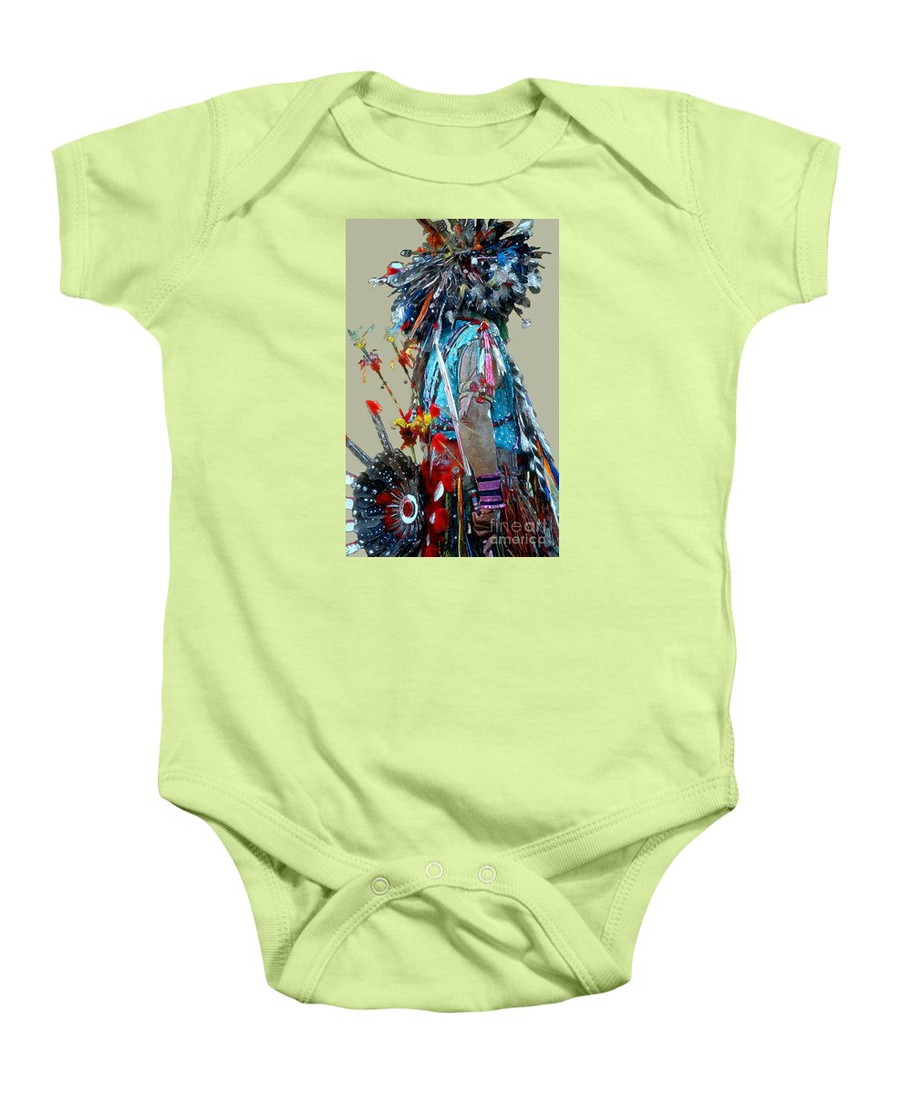 Indians Baby Onesie featuring the photograph Waiting To Dance by Linda Parker