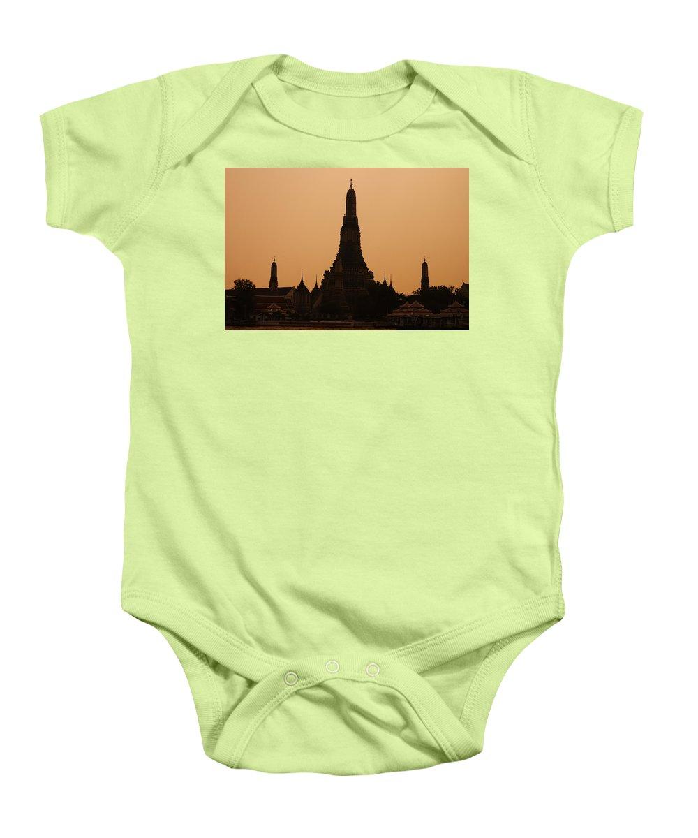 3scape Photos Baby Onesie featuring the photograph Wat Arun by Adam Romanowicz