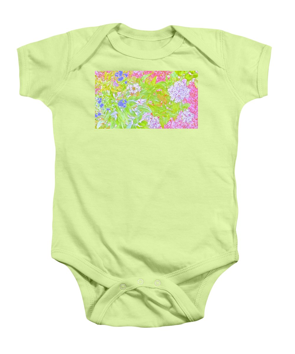 Maui Baby Onesie featuring the photograph Bouquet Of Flowers Watercolor Photography by Cheryl Cutler