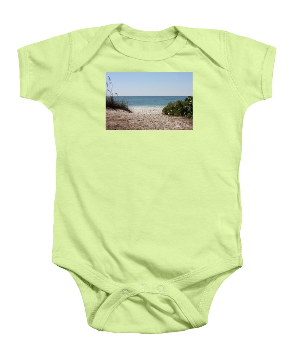 Beach Baby Onesie featuring the photograph Welcome To The Beach by Carol Groenen