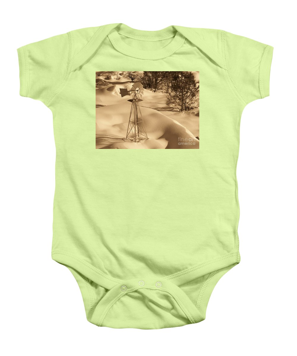 Wind Mill Baby Onesie featuring the photograph Wind Mill by Brandi Maher