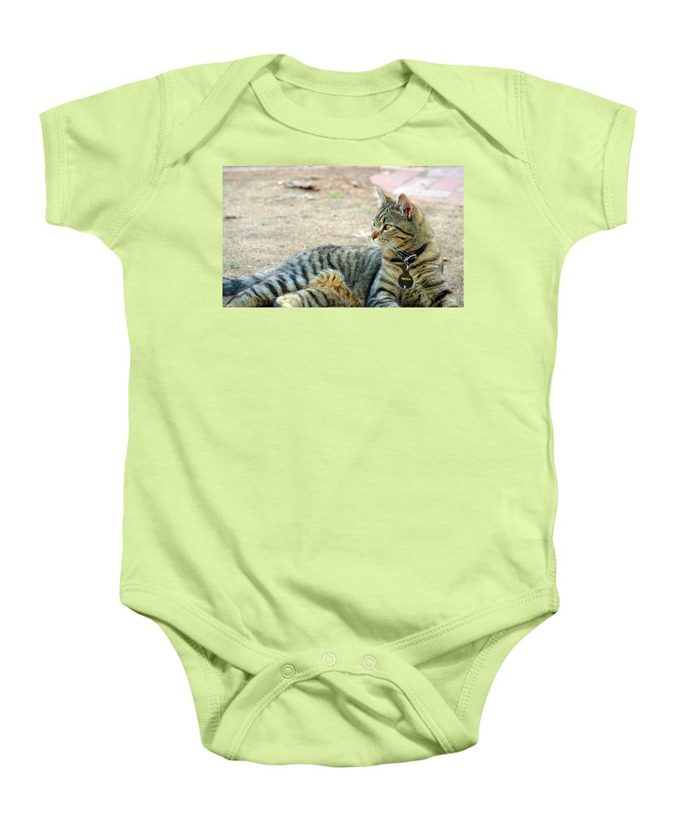 Eyes Baby Onesie featuring the photograph Winston 6 by Brent Dolliver