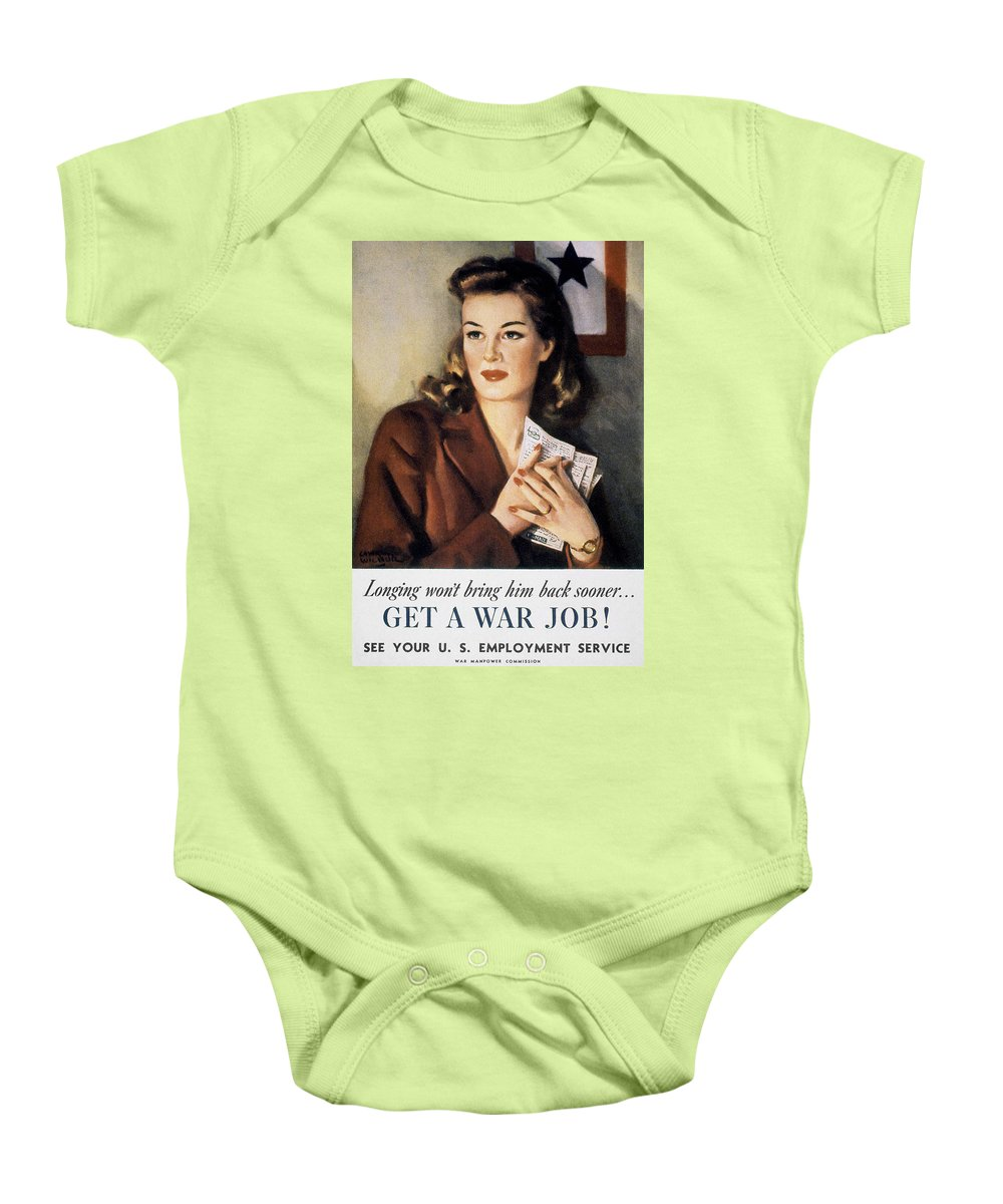 20th Century Baby Onesie featuring the photograph Ww II: Employment Service by Granger
