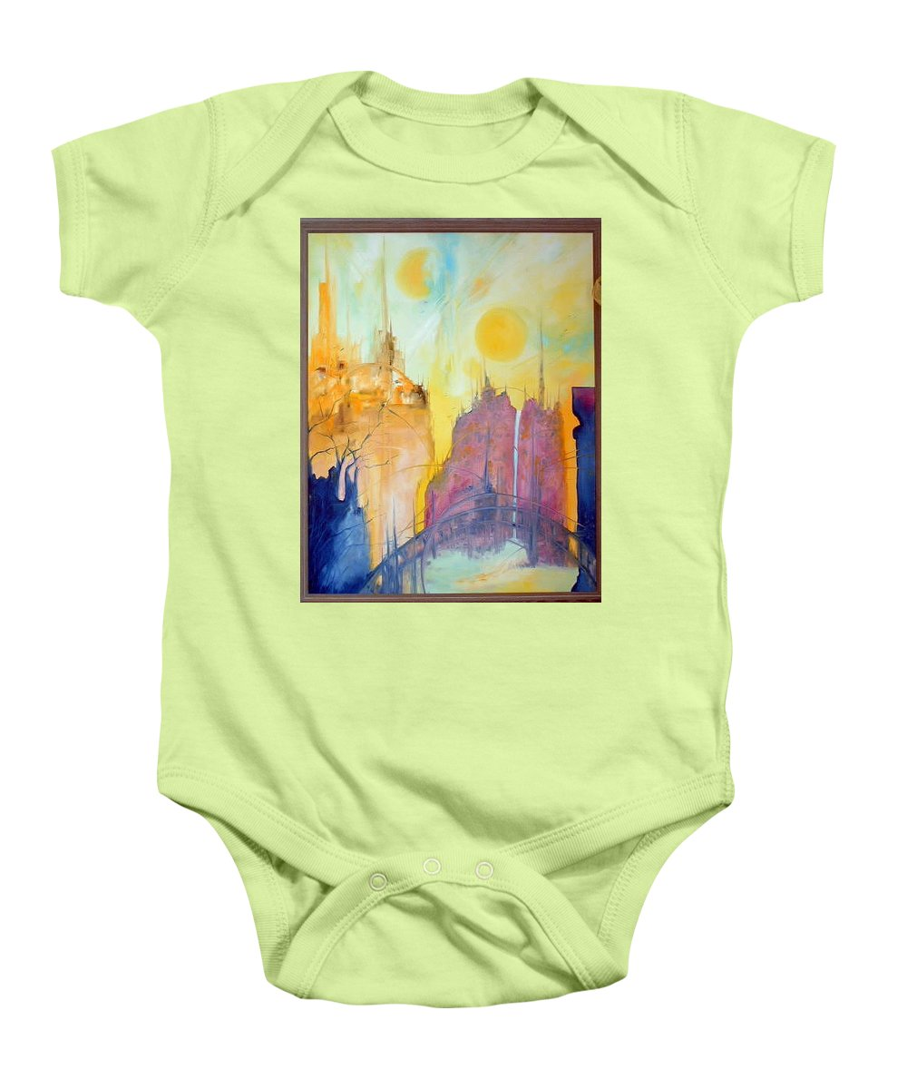 Modern Baby Onesie featuring the painting Yesterday by Lord Frederick Lyle Morris
